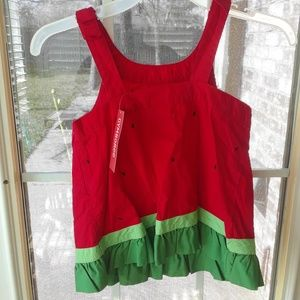 Gymboree Shirts & Tops - Gymboree NEW Watermelon Ruffle Tank Top sz 8